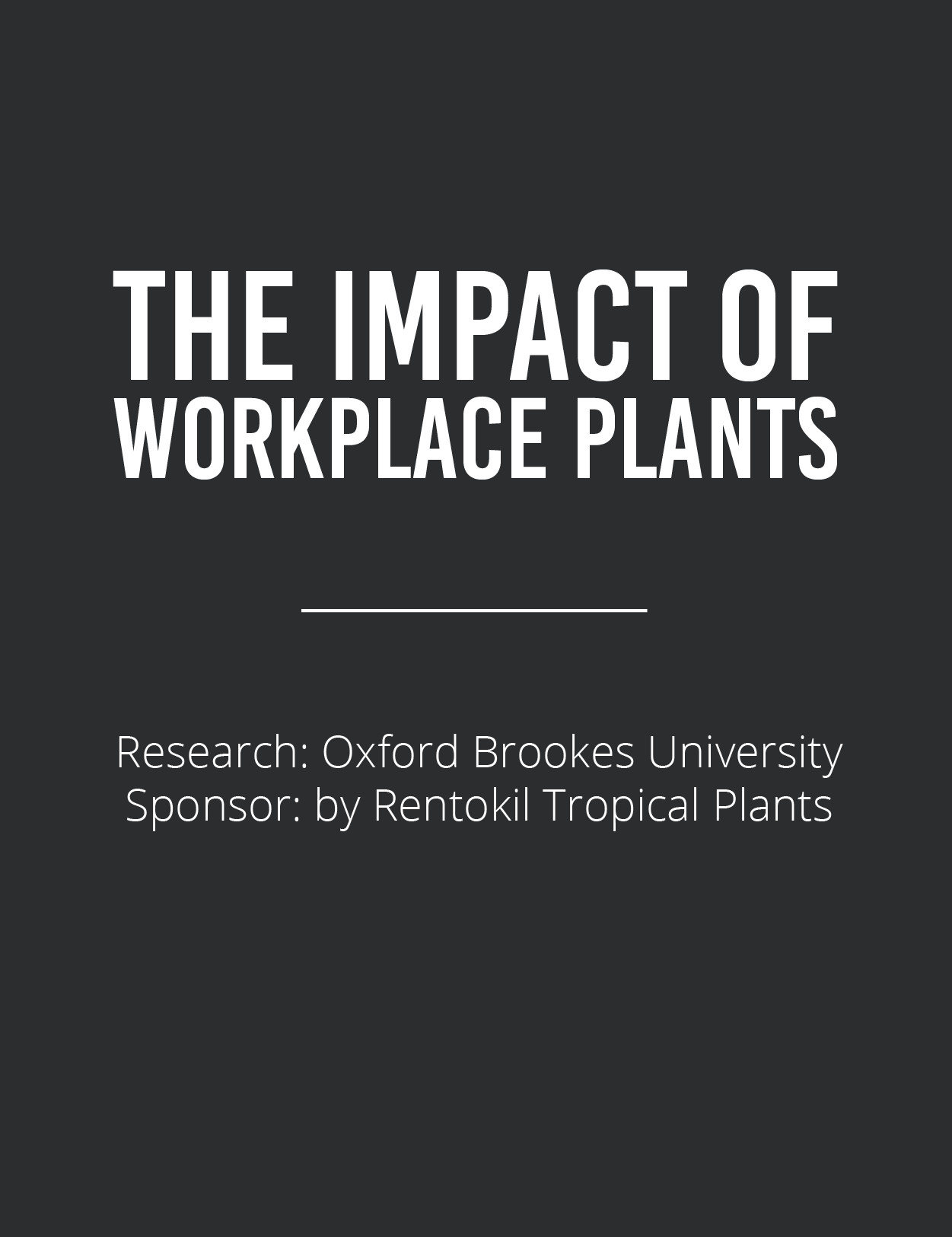Impact of Workplace Plants