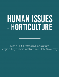 human issues in horticulture