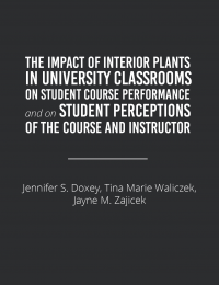 interior plants and student course performance
