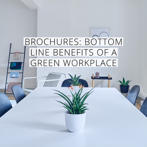 Bottom line benefits of green workplaces